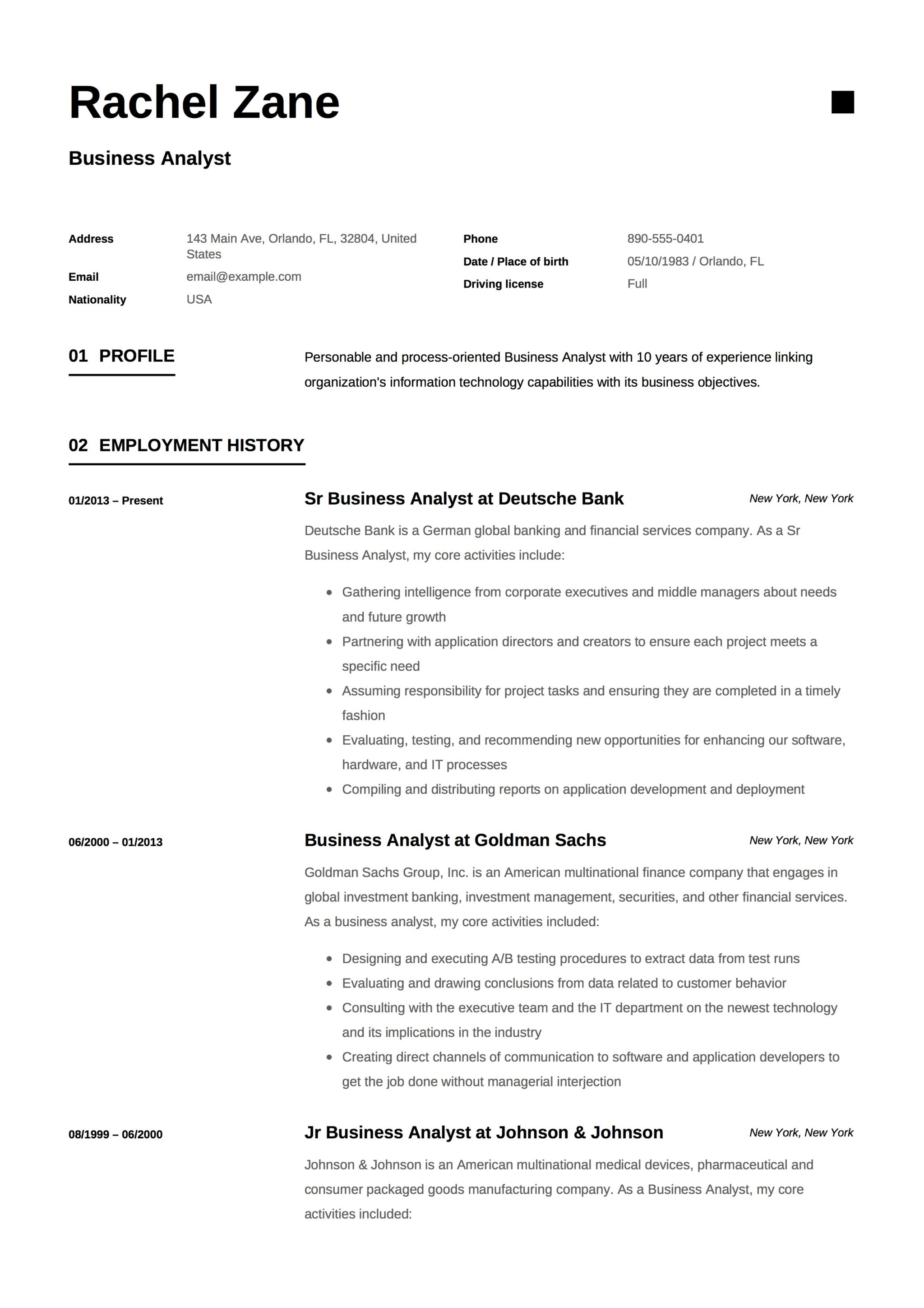 Resume Components Pdf - Resume Examples | Resume Template