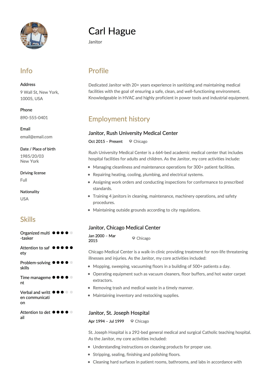 resume skills examples pdf