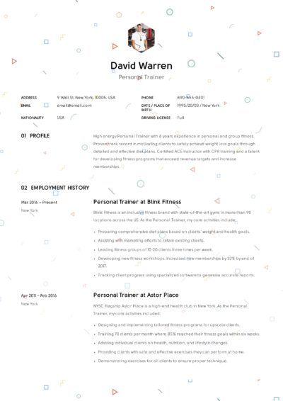 fitness trainer resume pdf example resume comprandofacil co 7250