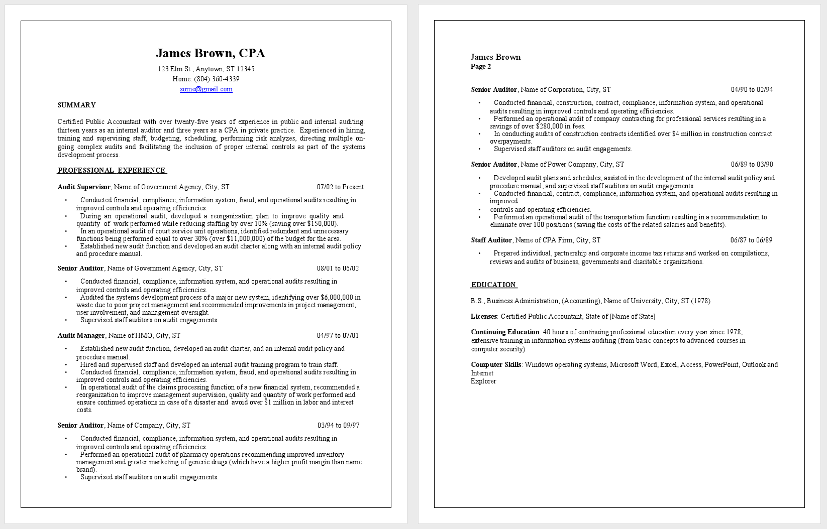 cover letter for public accountant