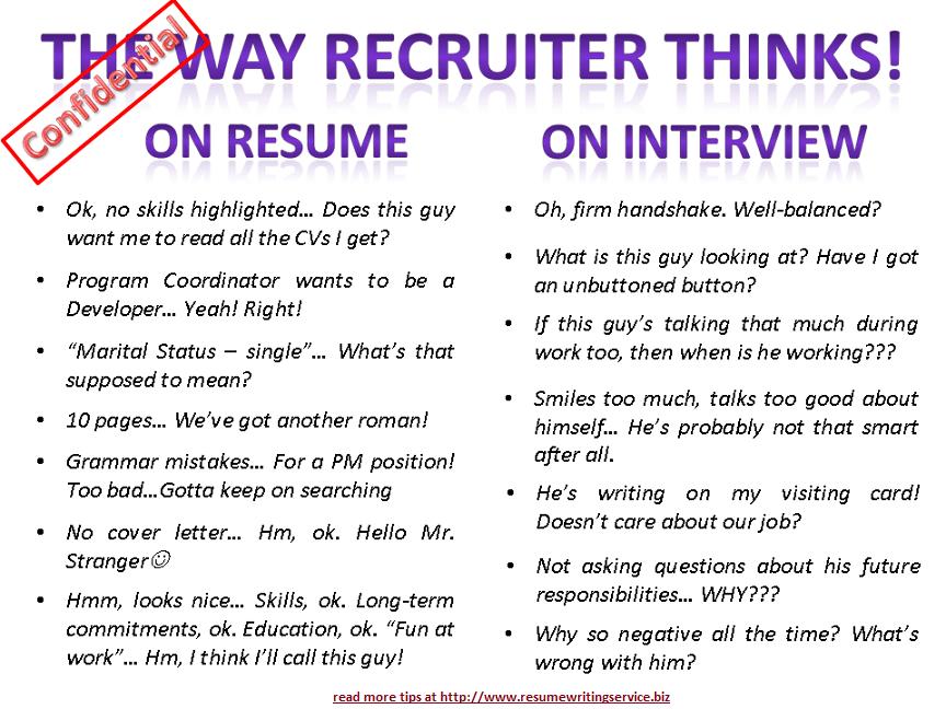 The Way Recruiter Thinks