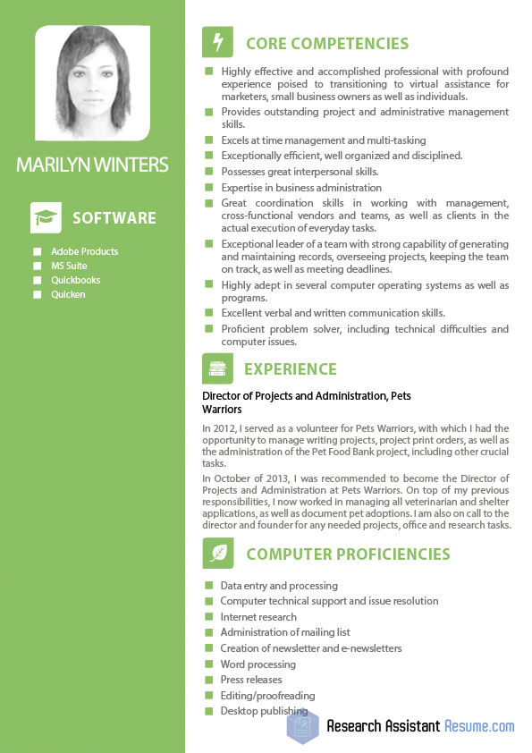 internet marketing resume sample