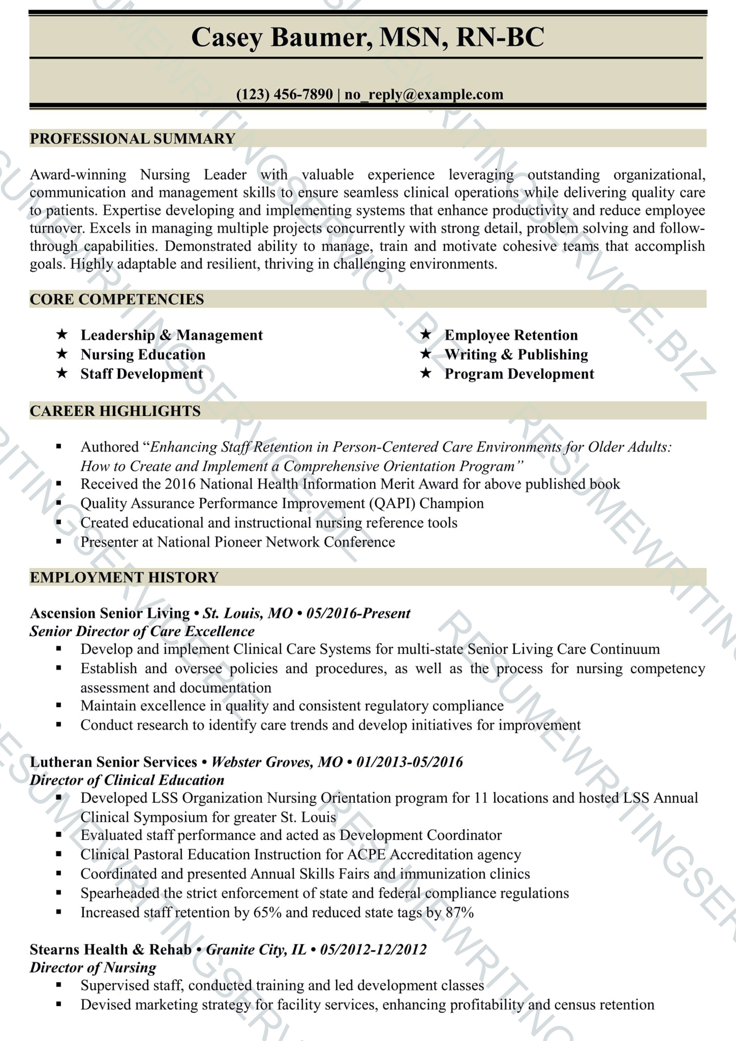 catchy resume samples