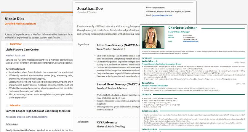 Resume Builder Cover Letter Templates CV Maker Resumonk