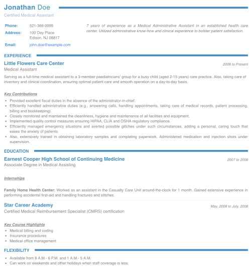 bold resume template free