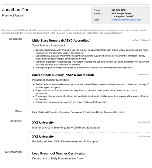 photo resume templates professional