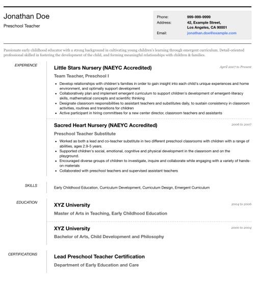 Photo Resume Templates Professional Cv