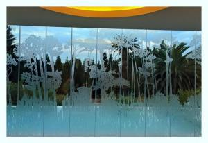 sandblasted glass design