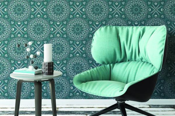 Ceramic lotus wallpaper