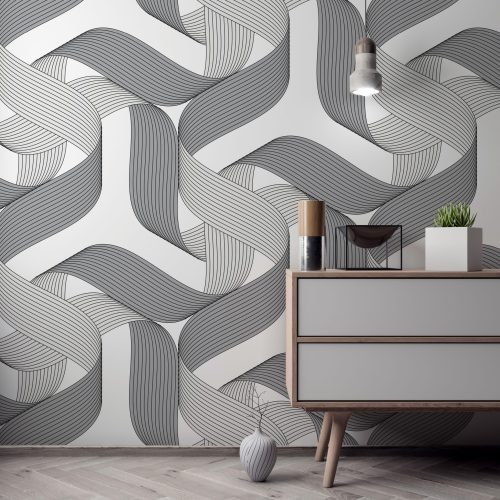 Rollercoaster ribbons wall art