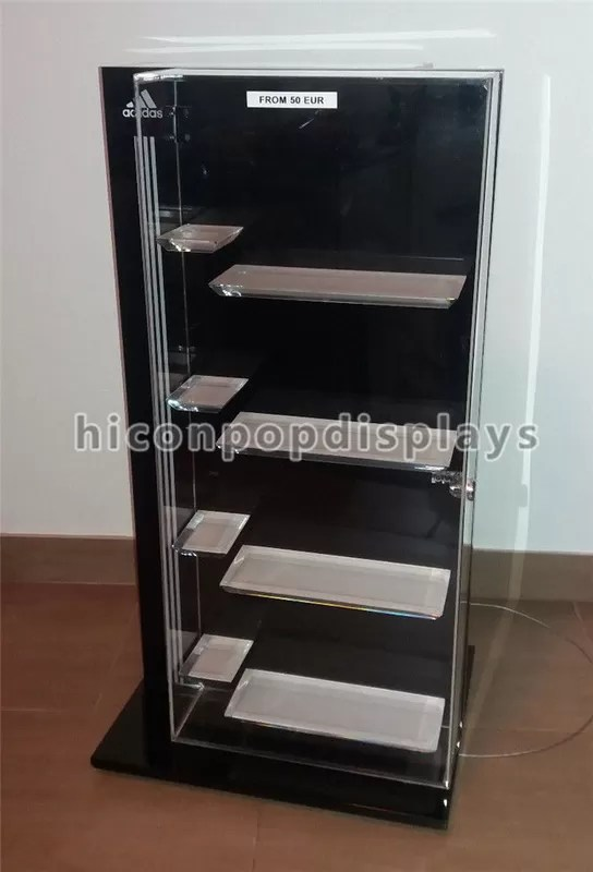 Retail Shop Clothing Store Fixtures Brand Name Shoes Display Cabinet With 4 Shelves