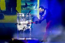 Ion Oncescu la lansarea lanternei indestructibile VARTA