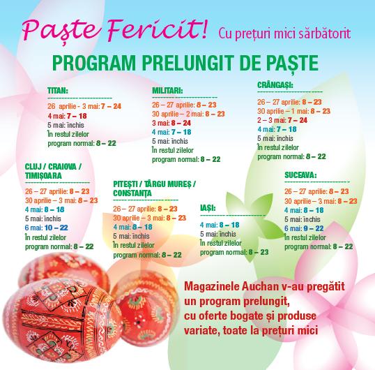 Program special Paste 2013 Auchan Hipermarket
