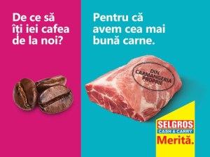 Propaganda Campanie Selgros. Merita. vizual 1