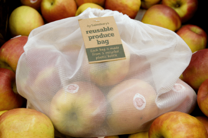 Sainsbury is committed to reducing plastic packaging by 50% by 2025