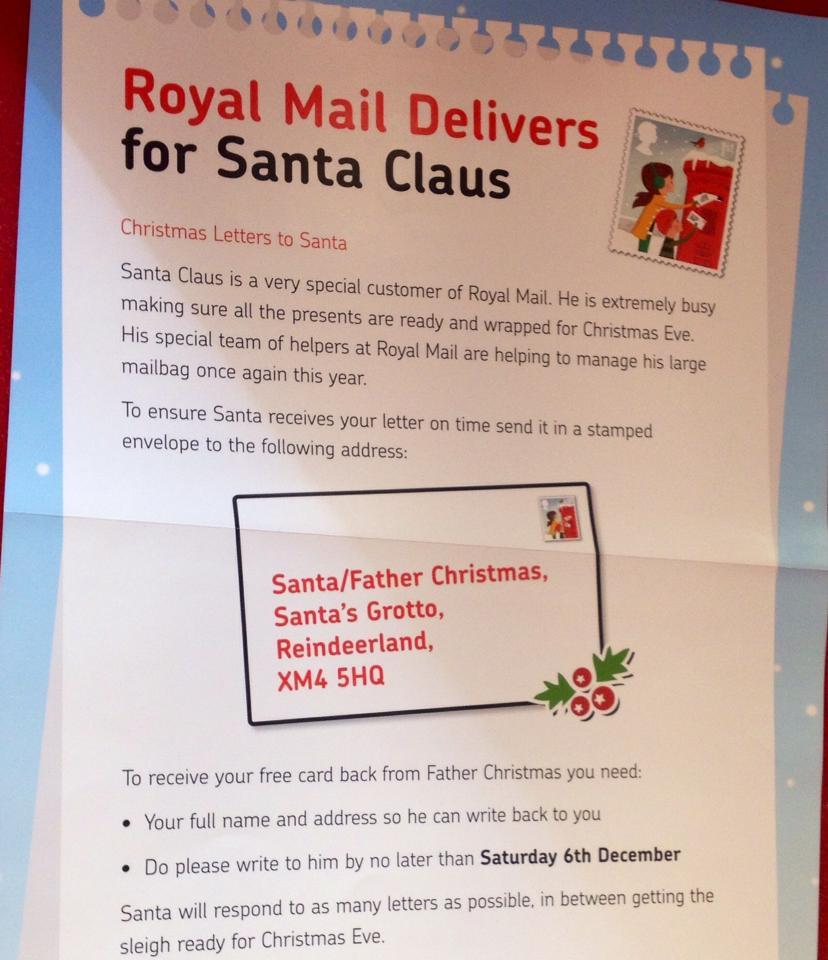 What Address Do You Send Letters To Santa | Lv.Crelegant.Com