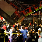23 dead as Mexico City metro overpass collapses onto the road