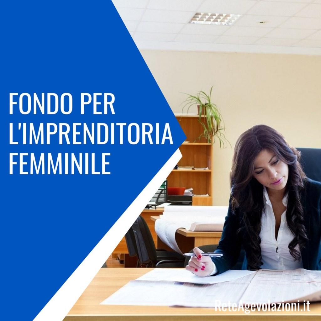 fondo imprenditoria femminile