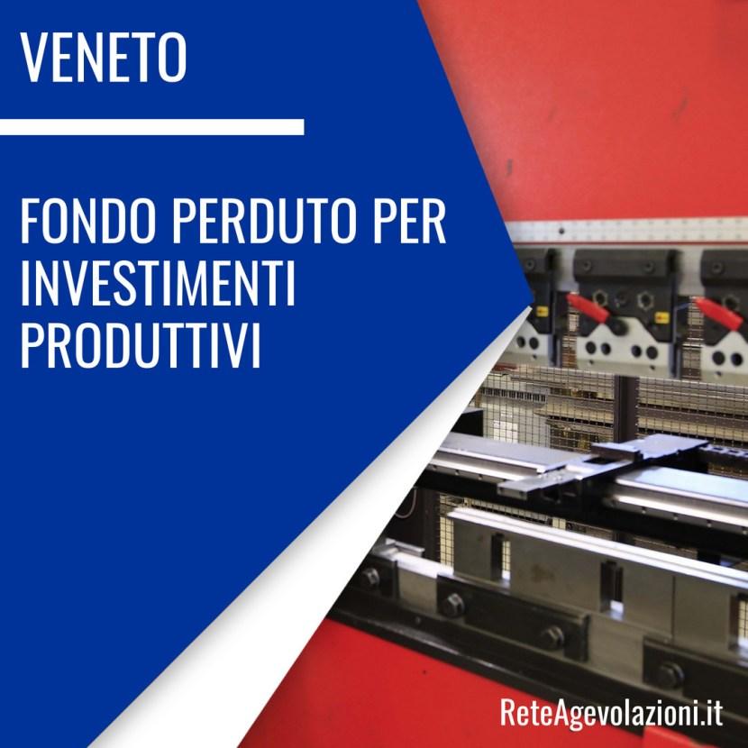 fondo perduto investimenti produttivi