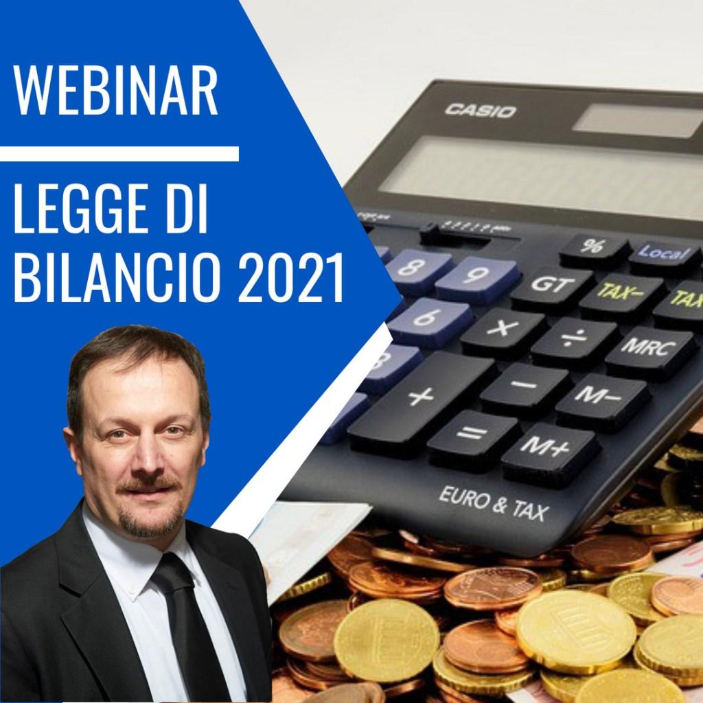 webinar legge bilancio 2021
