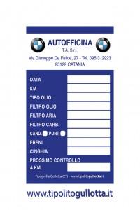 500 Etichette Adesive Cambio Olio  Tagliando per OFFICINA