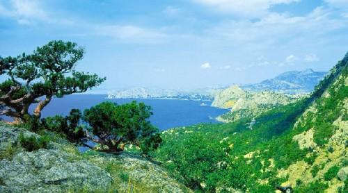 Paesaggio mare e montagna  Latina