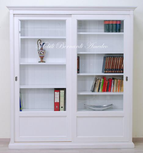 Libreria bianca con 2 ante scorrevoli  Ros