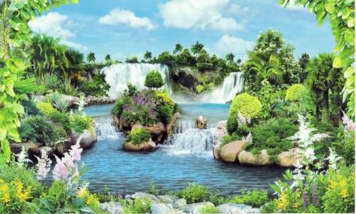 Paesaggio tropicale  Latina