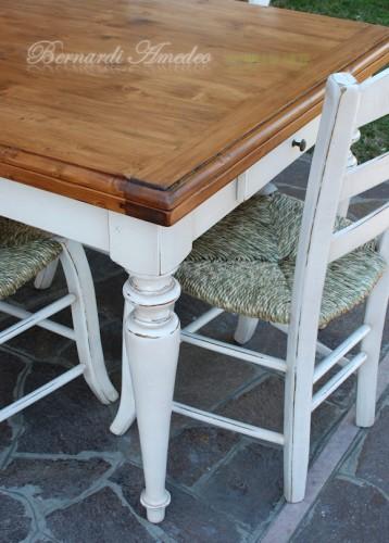 Tavolo country allungabile in legno massello  Ros