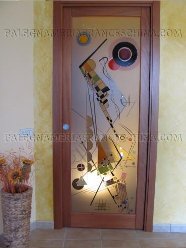 Porte artistiche e a vetro  Galliate Lombardo