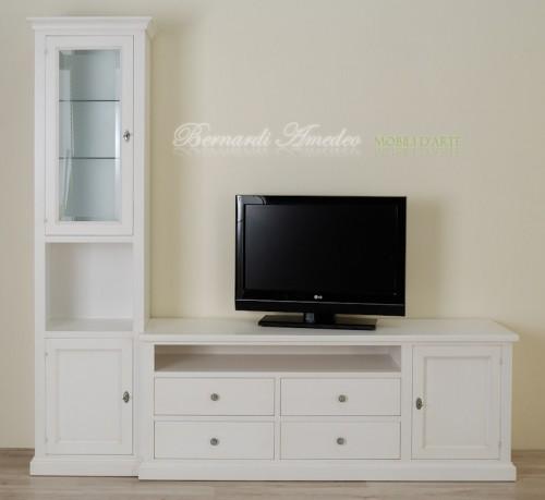Porta Tv laccato bianco avorio  Ros