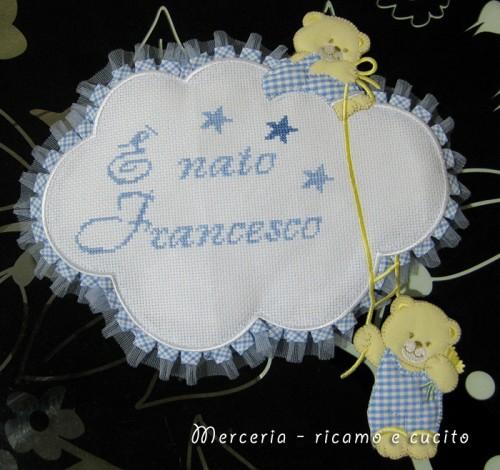 Fiocco nascita nuvola E nato Francesco  Grottaglie