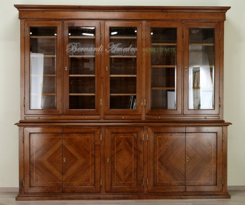 Libreria con ante chiuse e vetro  Ros