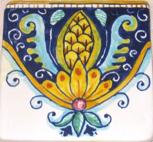 Piastrelle decorate  mattonelle decorate pannelli decorativi dipinti in ceramica per cucine