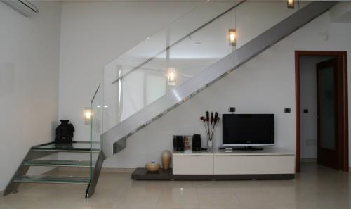 Scala con gradini in vetro e acciaio inox  Este