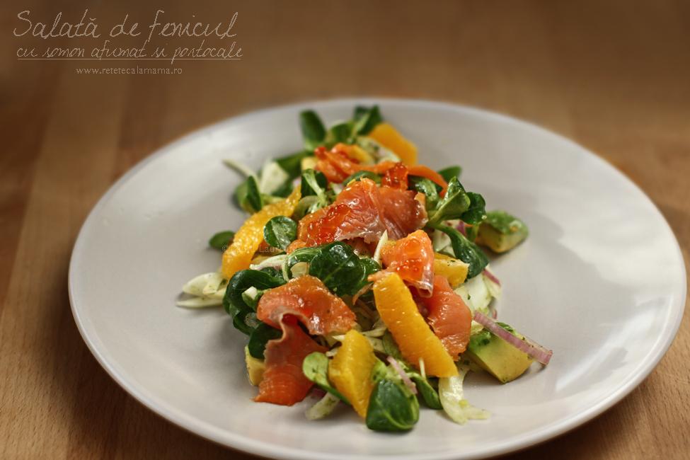 salata cu fenicul, somon si portocale-1