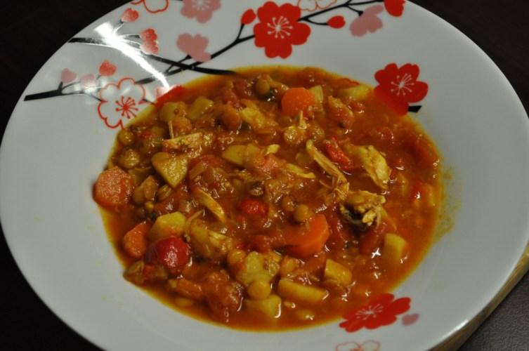 Supa marocana de linte cu pui
