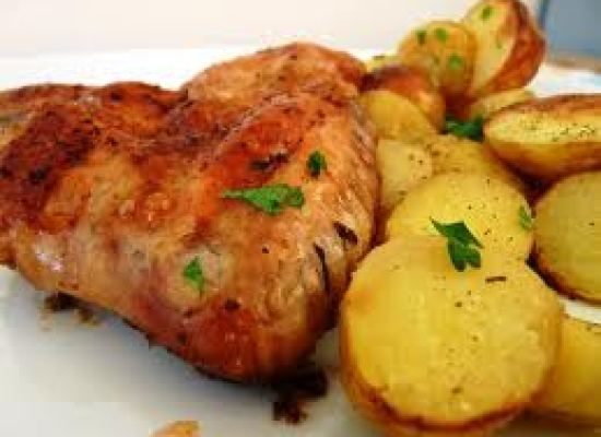 Aripi la cuptor cu cartofi