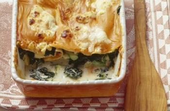 Reteta lasagna cu legume si rucola