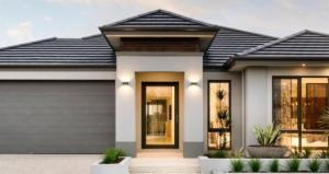 house with garage door