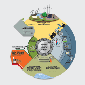 infographic over circulaire economie van partners for innovation