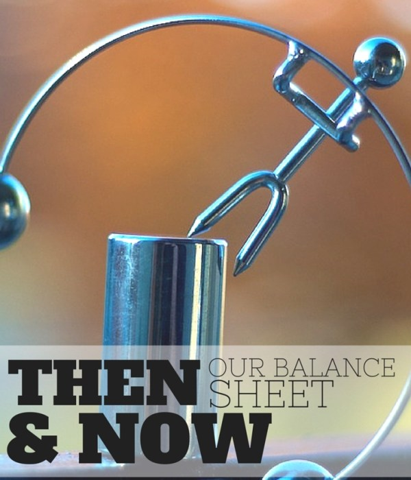 Our Balance Sheet – Then & Now