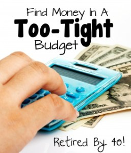 Find Money in a too-tight budget, budgeting, saving, budget, frugality, expenses