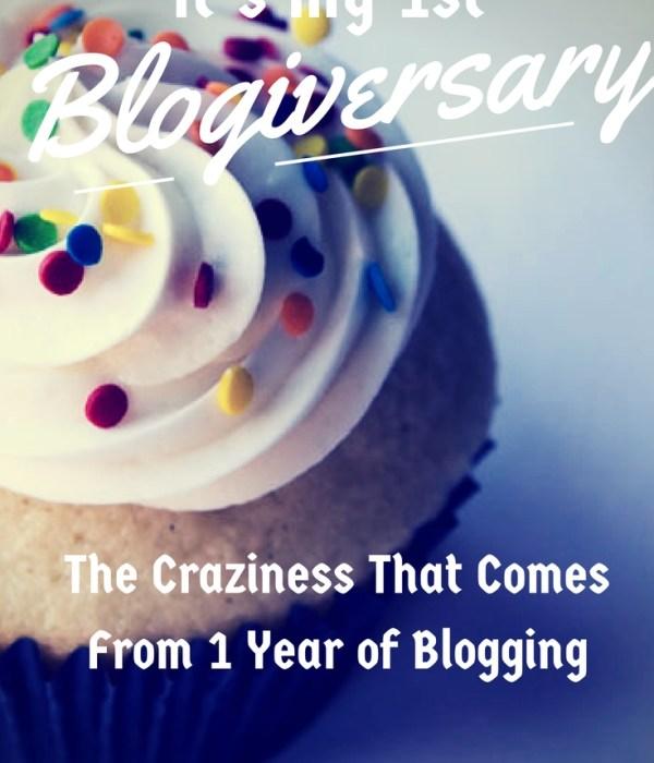 It's My 1 Year Blogiversary!