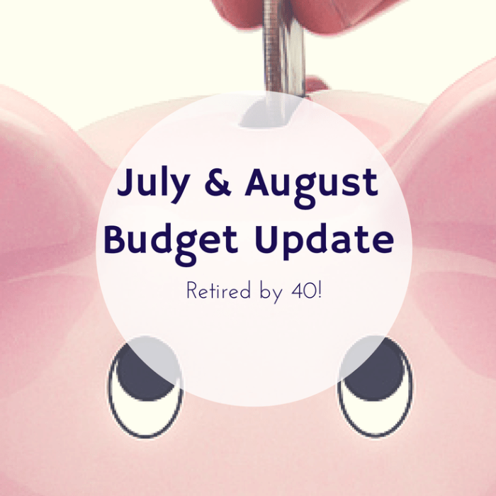 July and August Budget Update!