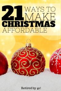 make Christmas affordable