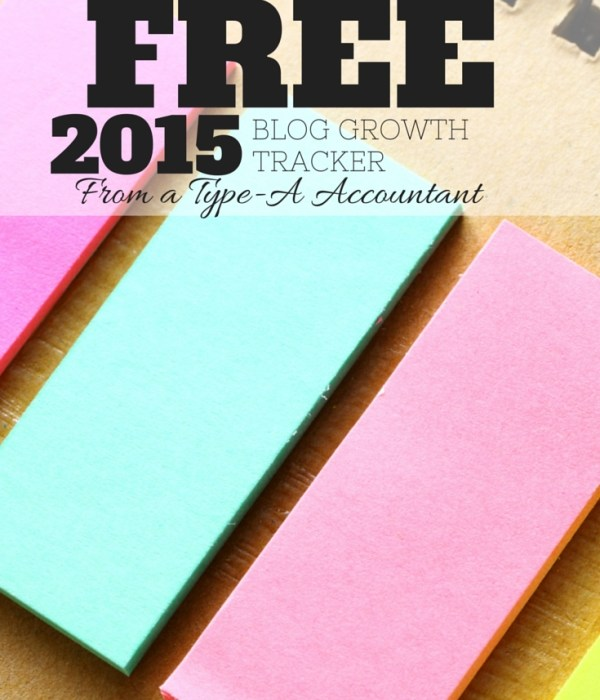 Free 2015 Blog Tracker Download + 2014 & 2015 Blog Income and Goals