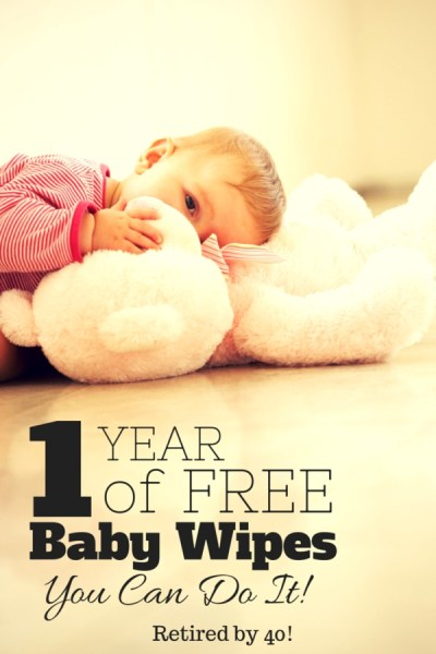 What if, with a little strategy, you could get an entire year of free baby wipes?  Guess what - you can!