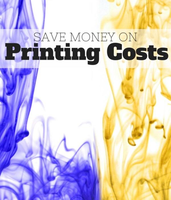 Save Money on Printing Costs