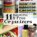 Organizing your house doesn't need to be expensive! Organize your whole house with the free organizers to make both your family and budget happier!